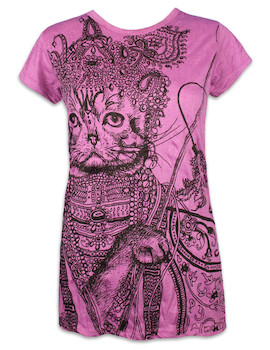 SURE Damen T-Shirt - Krishna Katze