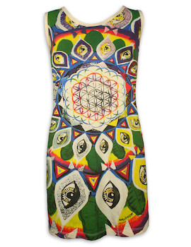 MIRROR Women´s Tank Dress - Flower of Life