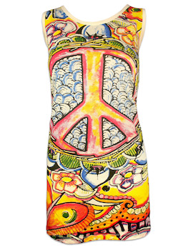 MIRROR Women's Tank Dress - Psy Peace
