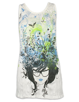 PURE Women´s Tank Dress - Butterflies in your mind