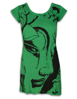 SURE Damen Kleid - Weinender Buddha