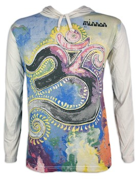 Mirror Men's Hooded Sweater - Om Artwork