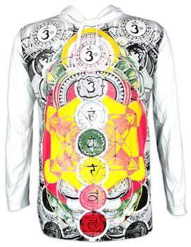 Mirror Herren Kapuzen Sweatshirt - Die 7 Chakras