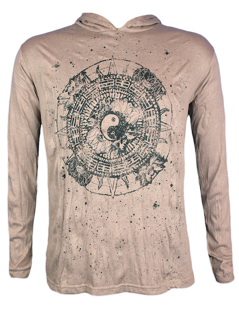 PURE Men´s Hooded Sweater - Ying and Yang