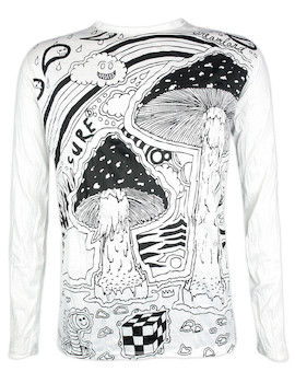 Sure Men´s Longsleeve Shirt - Mushroom Dreamland Size M L XL Cannabis Acid Psychedelic Art Raggae Ragga
