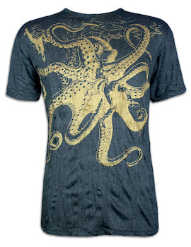 SURE Herren T-Shirt - Der Riesen Krake Special Edition Gold