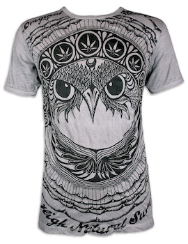 SURE Men´s T-Shirt - The Irie Owl Totem Indians Shamane