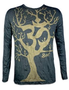 SURE Herren Longsleeve Shirt - Om Magischer Baum Special Edition