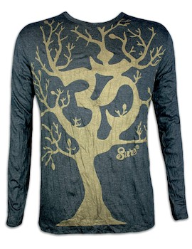 SURE Men´s Longsleeve - Om Magic Tree Special Edition Size M L XL Boho Goa Psy Trance Yoga of Life Worldtree
