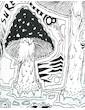 Sure Men´s Hooded Sweater - Mushroom Dreamland Size M L XL Cannabis Acid Psychedelic Art THC Reggae