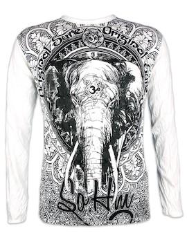 SURE Herren Longsleeve Shirt- Om Ganesha