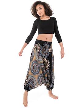 WAKAPU Women's Trousers - One Size Bhuma Aladin Harem Elephant Baggy Pants  Shalwar