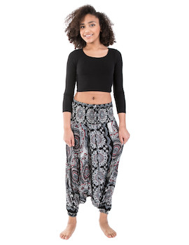 WAKAPU Women's Trousers - One Size Shikharin Aladin Harem Elephant Baggy Pants Shalwar
