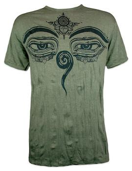 SURE Herren T-Shirt - Die Augen des Buddha