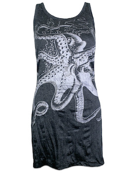 SURE Women's Tank Dress - The Giant Kraken