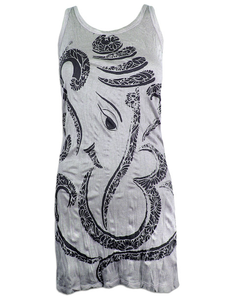SURE Women's Tank Dress - Ganesha Elephant God