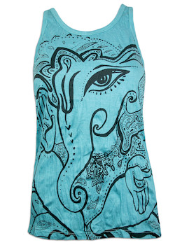 SURE Women's Tank Top - Elephant God Ganesha Buddha Hindu