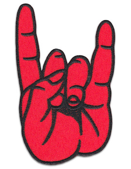 Devil´s Horns Patch Sew Iron On Doom Heavy Metal Rocker