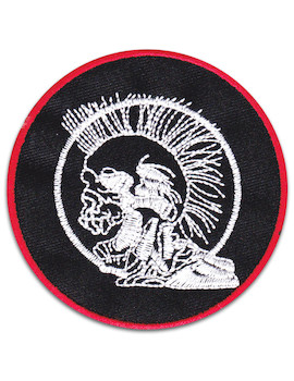 Punker´s Skull Patch Iron Sew On Punkrock England Mohican