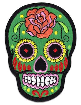 Aufnäher Mexiko Totenkopf