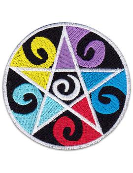 Aufnäher Psycho Pentagramm