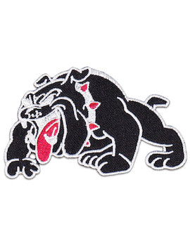 British Bulldog Patch Iron Sew On England Soccer Pets Dogs