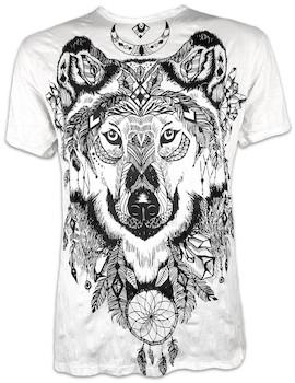 SURE Herren T-Shirt Geisterwolf