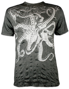 SURE Men´s T-Shirt Great Kraken Silver Edition