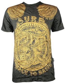 SURE Men´s T-Shirt Aum Symbol Gold Edition