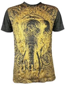 SURE Men´s T-Shirt Om Ganesha Gold Edition