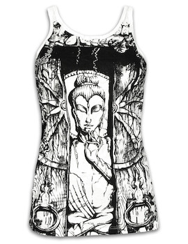 SURE Damen Top - Buddha Das Rad des Lebens