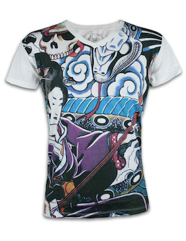 Ako Roshi Men´s T-Shirt - Geisha to Hebi Geisha and Snake