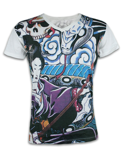 Ako Roshi Men´s T-Shirt - Geisha to Hebi Geisha and Snake