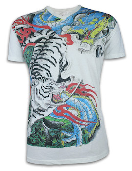 Ako Roshi Men´s T-Shirt - Tora to Ryu Tiger & Dragon
