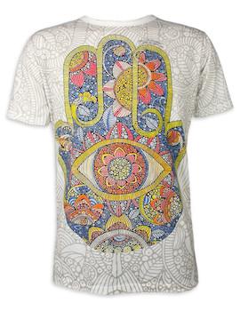 MIRROR Herren T-Shirt - Hamsa Sonnen-Hand