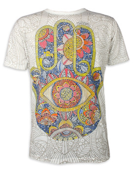 Mirror Men's T-Shirt - Hamsa Sun Hand