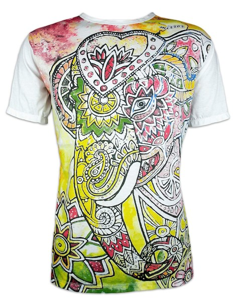MIRROR Men´s T-Shirt - Psychedelic Elephant