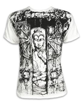SURE Herren T-Shirt - Buddha Das Rad des Lebens