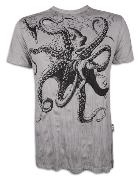 SURE Herren T-Shirt - Der Riesen Krake
