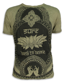 SURE Herren T-Shirt - Lotus Sutra - Weisheit des Lotus