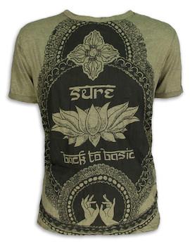 SURE Herren T-Shirt - Lotus Sutra - Weisheit des Lotus