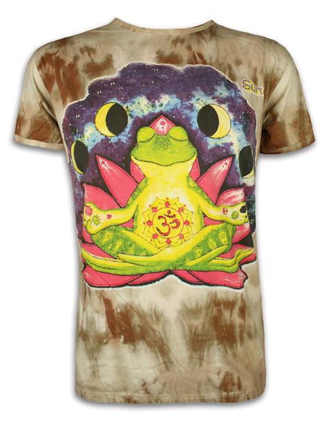 SURE Herren T-Shirt - Bhekasana - Der Yoga Frosch
