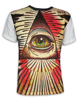 WEED Herren T-Shirt - Das Auge In Der Pyramide