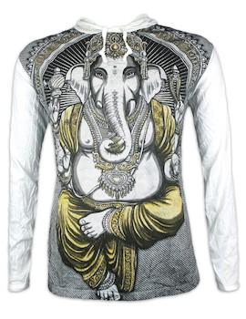 WEED Herren Kapuzen Sweatshirt - Ganesha Der Elefantengott