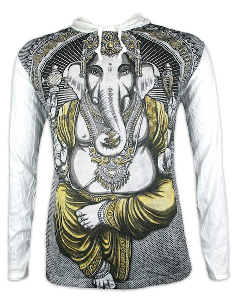 WEED Men´s Hooded Sweater - Ganesha The Elephant God